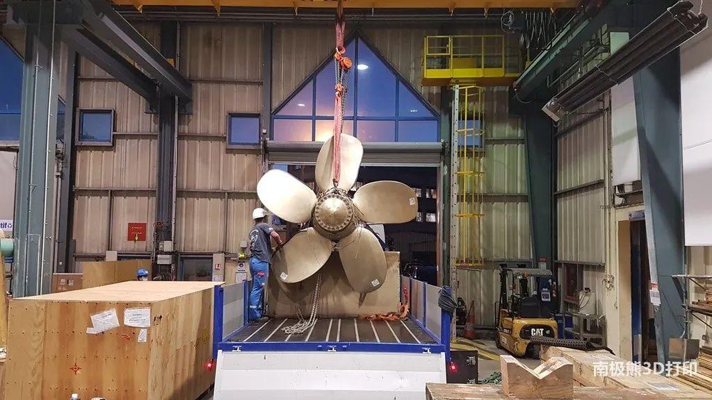 法国海军完全3D打印舰艇螺旋桨,重达1吨