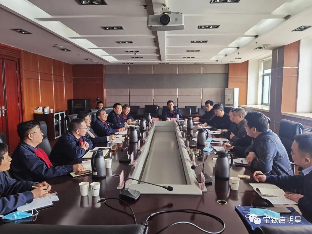 陕西宏远航空锻造公司总经理魏志坚走访宝钛股份